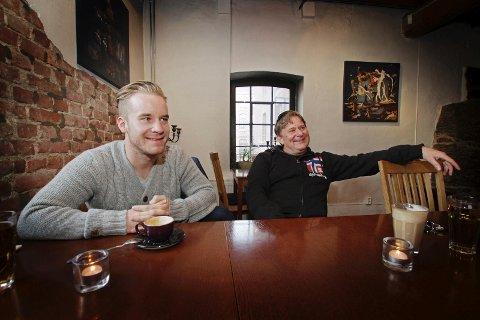 STORE TAP: Familien Østberg har gått på store tap i 2019. Dette bildet av Mads Østberg (t.v.) og Morten Østberg er fra 2015.