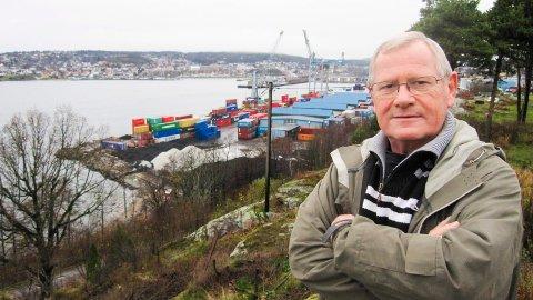 Protesterte: Kallum og Kleberget Vel  med leder Kristian Hjortkær Hansen  protesterte mot områdereguleringen for Moss havn.