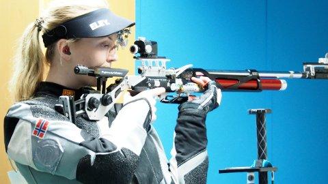 SLITEN: Malin Westerheim fra Moss var sliten men fornøyd etter 4. plassen.