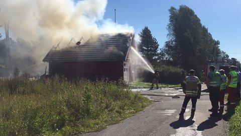 Brann i bolig i Kråkstad.