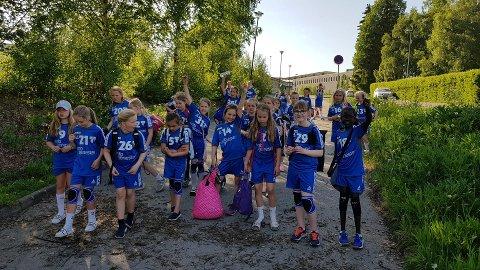 PÅ CUP: HK Rygge deltok med to J11-lag i Storhamar Cup.
