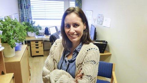 Kristine Hermansen Leder for et kommunalt tilbud for hverdagsrehabilitering i Moss. Gift, to barn 39 år.