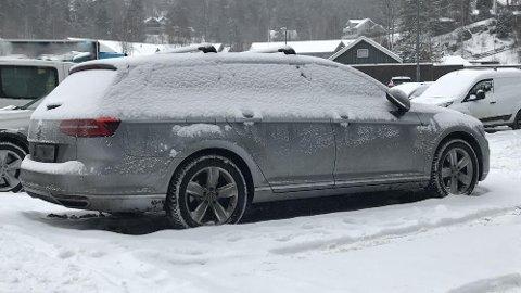 NEI! Når bilen ser slik ut, er det ikke bare å sette seg inn og kjøre avgårde.