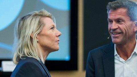 Konsernsjef Kjerstin R. Braathen og finansdirektør Ottar Ertzeid Foto: Terje Pedersen (NTB scanpix)