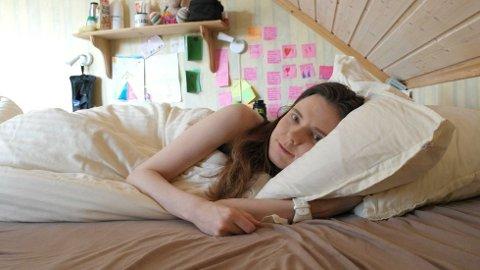 SENGELIGGENDE: I denne senga ligger Elisabeth Gleine mesteparten av dagen sin.