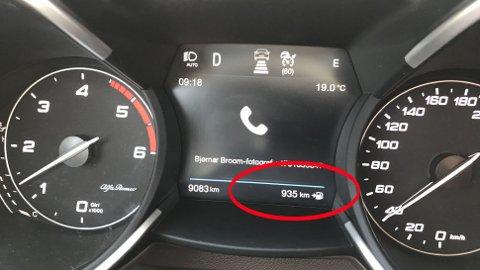 Moderne dieselbiler er utrolig effektive. Det gjør at selv en fullvoksen SUV med kraftig motor på 210 hk, klarer godt over 900 kilometer før den må stoppe og fylle drivstoff.