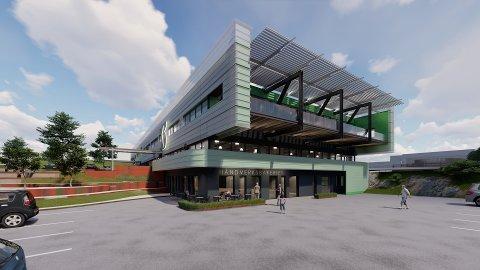 SLIK BLIR DET: Renoveringen av Kleverveien 3 gjør at bygget framstår som nytt. Det legges opp til at Håndverksbakeriet skal bli en møteplass.