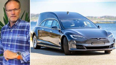 Med en startpris på to millioner er dette helt klart Norges dyreste Tesla. Og det er kanskje ikke bilen du har mest lyst til å sitte på med...