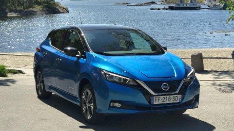 Her er den på plass i Norge, Nissan Leaf med ny og større batteripakke.