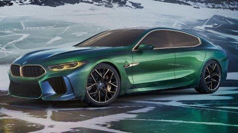 Slik ser BMW 8-serie Gran Coupe ut i konseptutgave. Snart skal vi få se den produksjonsklare modellen.