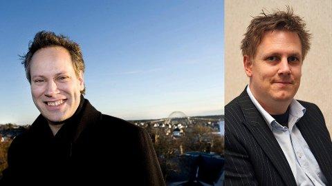 Vil si tydelig nei til rett linje til Rolvsøy: Ordfører Jon-Ivar Nygård (til venstre) vil ha med seg Råde-ordfører René Rafshol på en felles uttalelse for å gjøre det klart at de vil si nei til rett linje. (Arkivfoto: FB)
