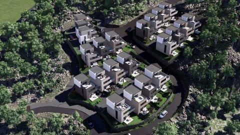 VANSKELIG TERRENG: Politikerne sa ja til byggeplanene etter at prosjektet er bedre tilpasset terrenget.