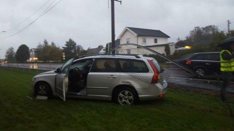INGEN PERSONSKADER: Det var tre biler involvert i ulykken på Stasjonsveien, men ingen personer kom til skade i ulykken.
