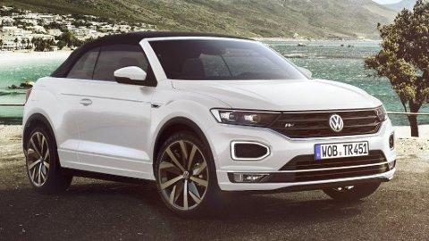 Volkswagen har lagt ned Golf cabriolet. I stedet kommer de med denne, cabriolet-utgave av crossoveren T-Roc.