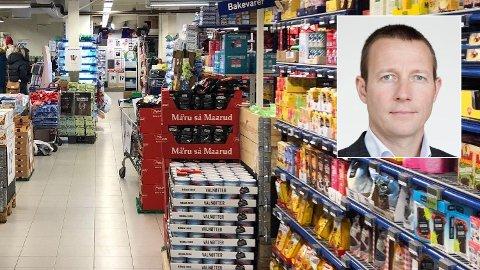 PRISGAP: Mat er 57 prosent dyrere i Norge enn i EU-landene. Virke er kritisk til nivået på særavgiftene: - Det fører til et betydelig tap av arbeidsplasser og tapt verdiskaping i hele landet. Vi er langt over taket for hva som er hensiktsmessig, sier Harald Jachwitz Andersen, direktør i Virke Handel.