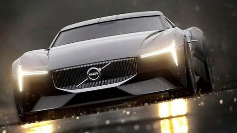 HEFTIG: Volvo Vision Gran Turismo heter den og er et heftig sportsbilkonsept fra Volvo.