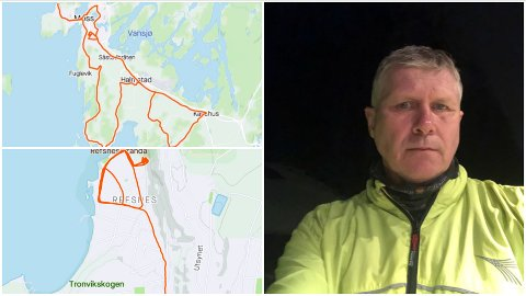 SINNSYK REKORD: Helge Kjøniksen smadret «konkurrentene» i den «lokale gåkonkurransen».