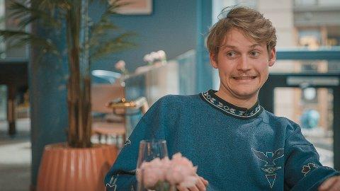 KLEINT: Sivert Kristiansen fra Moss gleder seg til å se hvordan de har kuttet episoden med han og daten hans Kaja.