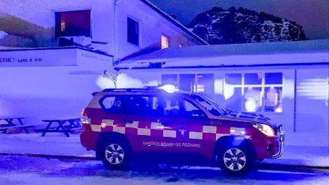 Rykket ut: Brannvesenet i Namsos rykket ut til Havnegata lørdag kveld.