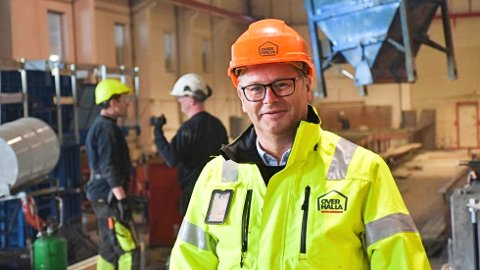 SIKRER DRIFTA: Med tre nye prosjekt i ordrebøkene til en verdi av 100 millioner kroner er Arnt Ove Amdal og Overhalla Betongbygg sikret aktivitet i ei god stund framover.