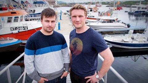 FIKK STØTTEN DE BA OM: Rasmus Husby Larsen og Øyvind Horn i Metro-Opus fikk den økonomiske støtten de søkte om. Leka kommunestyre vedtok å støtte selskapet med en halv million kroner.