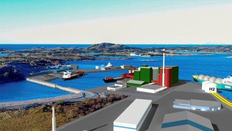 KAN BLI: Nord-Trøndelag Havn Rørvik IKS og havneeier Nærøysund kommune satser på å gjøre kysthavna på Kråkøya til en helgrønn energihub.