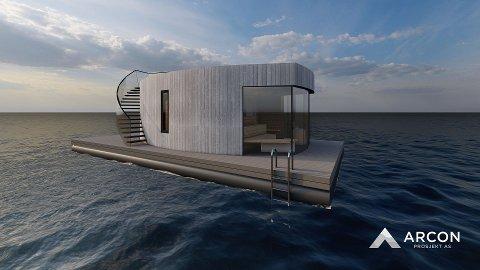 SIGNALBYGG: Slik skal Dråpen sjøbad etter planen se ut, når den etter planen skal stå ferdig i høst.