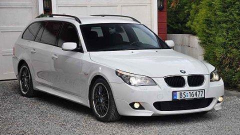 BMW 5-serie er en av de mest populære bilene i bruktmarkedet. Her kan du også få mye og fin bil til 50.000 kroner.