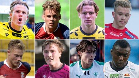 STORTALENTER: Alle disse kommer med på listen over de mest lovende spillerne i Eliteserien.
