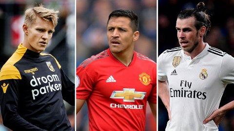 NY KLUBB? Martin Ødegaard, Alexis Sanchez og Gareth Bale kan alle komme til å bytte klubb i løpet av sommeren.