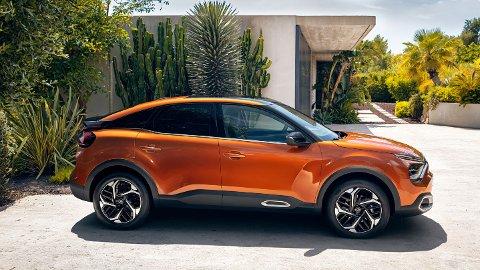 Slik ser en av årets elektriske nykommere ut. Dette er Citroën ë-C4. Den får en svært gunstig startpris på 277.000 kroner.