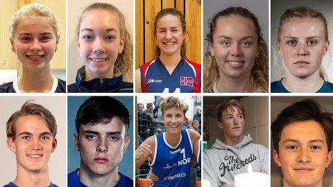 VOLLEYBALLTALENTER: Dette er bare noen av Mizunoligaens aller største talenter som vil sette sitt preg på norsk volleyball de neste årene.