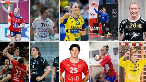 STORE HÅNDBALLTALENTER: Det gror svært godt i norsk håndball, og dette er bare noen av utøverne vi vil se mye til i fremtiden.
