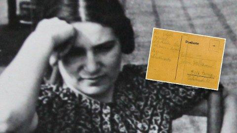 Edith Rafael og postkortet hun sendte