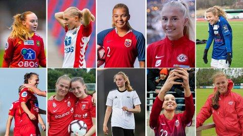 LOVENDE: Flere unge spillere vil få sjansen til å skinne i årets Toppserie. Nettavisen trekker frem disse som disse 11 som divisjonens mest lovende.