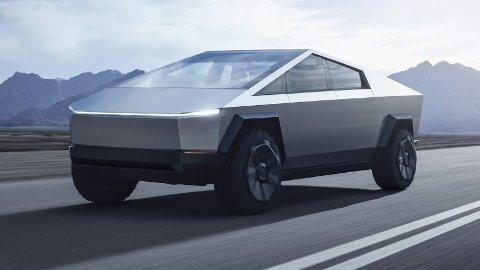 IKKE TIL EUROPA: Det er i et intervju med Automotive News Elon Musk forteller at Cybertruck ikke skal selges i Europa.