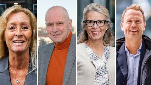 POPULÆRE STRØK: Eiendomsmeglerne Grethe W. Meier, Terje Buraas, Camilla Sem og Jørn Are Skjelvan har gode tips til hvilke Oslo-områder du bør investere i bolig.