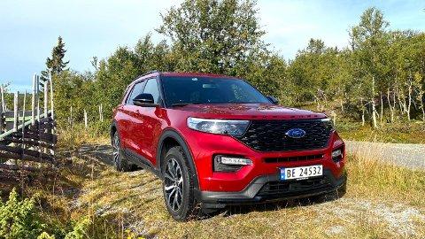 SUKSESS: Ford Explorer har gjort comeback i Norge, som ladbar hybrid. Det har vært en stor suksess så langt.