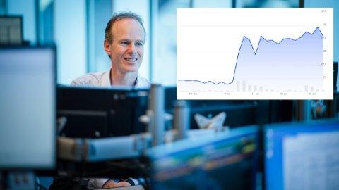 Tror på god vekst: Aksjestrateg i DNB Markets, Paul Harper, mener selskapet skiller seg ut på Oslo Børs. I januar har kursen eksplodert.
