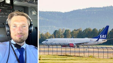 OPPSAGT: Simen Follesø Røiseland er en av de oppsagte SAS-pilotene. Tirsdag skal han og flere hundre andre demonstrere mot SAS sin omorganisering, som gjør det vanskelig for dem å få tilbake jobbene sine.
