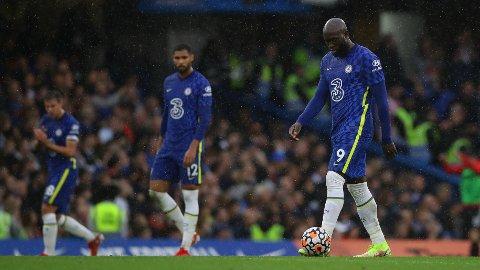 MÅLLØS: Romelu Lukaku gikk målløs av banen for femte kampen på for Chelsea.