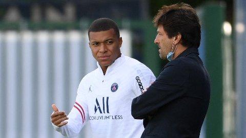 VILLE BORT: Kylian Mbappé ønsket seg bort fra PSG i sommer, men Leonardo og klubben ønsket å beholde stjernespilleren.