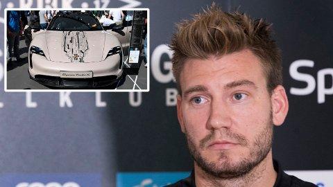 UTEN BIL: Den danske staten har bestemt seg for å beslaglegge bilen til Niklas Bendtner etter at han flere ganger har kjørt uten gyldig førerkort. Bilen på bildet tilhører ikke Bendtner.