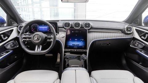 Slik ser interiøret ut i helt nye Mercedes C-Klasse, som akkurat har hatt verdenspremiere i Tyskland.