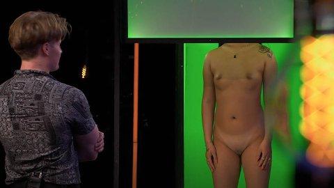 NAKENDATING: I Naked Attraction får hovedpersonen presentert fem nakne kropper, og velger en date etter hva vedkommende ser.