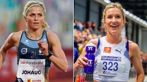 MØTES: Lørdag skal Therese Johaug og Karoline Bjerkeli Grøvdal forsøke å klare OL-kravet på 10.000 meter på 31.25.