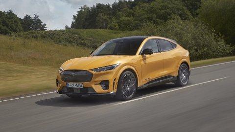 SPESIALUTGAVE: Nå lanserer Ford spesialutgaven GT av sin Mustang Mach-E. Fra 635.000 kroner gir den ytelser svært få andre kan matche.