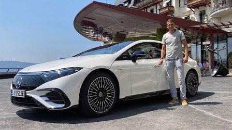 PRØVEKJØRER: Redaksjonssjef i Broom, Vegard Møller Johnsen, er i Sveits der han tester Mercedes EQS. Kanskje den viktigste nye elbilen i 2021.