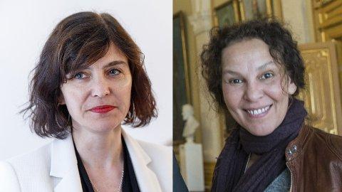 Monica Boracco (til høyre) har avlyst møtet mellom kunstnere og Ytringsfrihetskommisjonen under Arendalsuka. Det synes leder Kjersti Løken Stavrum i Ytringsfrihetskommisjonen er synd.