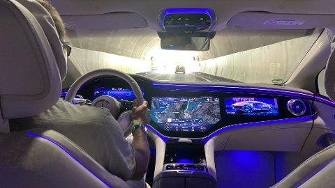 LUKSUS: Mercedes EQS er den første luksuselbilen på markedet.